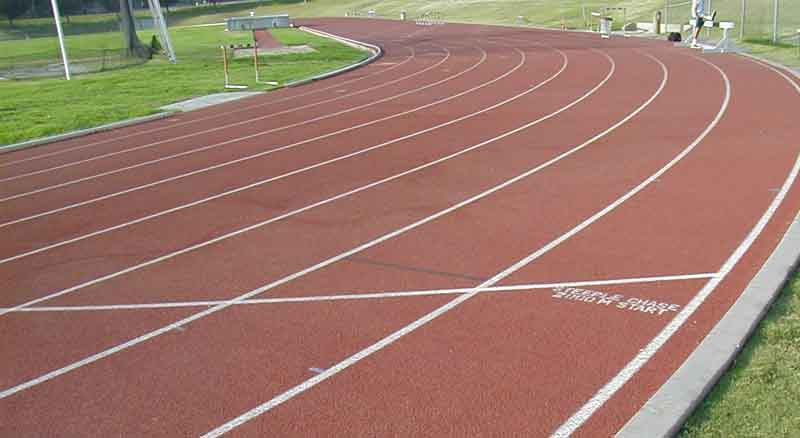 examples of track markings football field diagram with track inside it we are now most of the way through the first turn but in lane 8 we have just reached the first 400h marks and later the 4x200 start line (lane 9 is